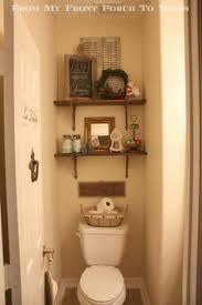 small half bathroom decor. Half Bathroom Reveal. Shelf DecorSmall Small Decor
