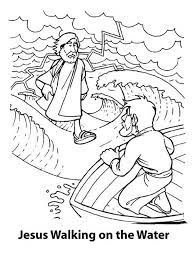 Small Picture Jesus Coloring Pages Printable For Jesus Walks On Water Coloring