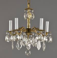 antique brass chandelier with crystals spanish brass crystal chandelier c1950 vintage antique photos