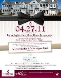 realtor open house flyers realtor only open house luncheon april 27 live bayside