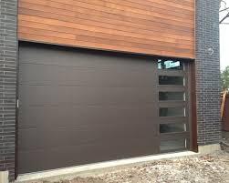 Modern Garage Door With Glass Panel Long Panel Garage Door
