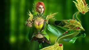 video game dota 2 gallery windranger shooter forest girl desktop