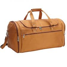 flyer leather travel bag tan