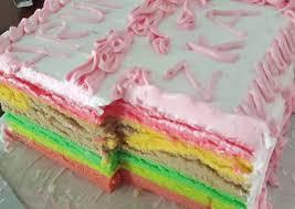 Dengan cara kukus berarti dipanaskan pakai api didalam. Resep Rainbow Cake Kukus Anti Gagal