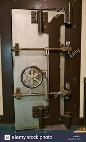 an old bank vault door at the halifax historical museum in daytona beach florida