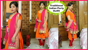 Traditional Indian Party Outfit   Indian Clothing   Salwar Kameez    SuperPrincessjo - YouTube
