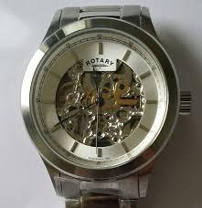 rotary mens skeleton automatic silver bracelet watch gb00157 06 rotary mens skeleton automatic silver bracelet watch gb00157 06