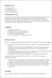 Resume Templates: E Learning Designer