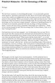nietzsche essay final essay on nietzsche final draft friedrich friedrich nietzsche on the genealogy of morality first essay friedrich nietzsche on the genealogy of morality