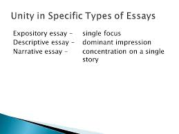 essays senior high english ppt  unity in specific types of essays