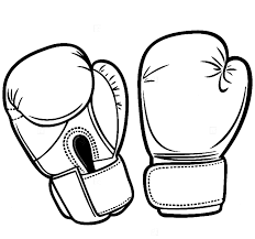 boxing gloves coloring pages best hanging boxing gloves drawing at getdrawings