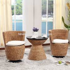 Wicker Living Room Chair Water Hyacinth Natural Rattan Living Room Large Leisure Lounge