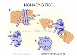 How to tie a monkies fist
