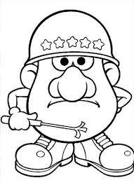 Small Picture Mr Potato Head Army Commander Colouring Page Fun Colouring
