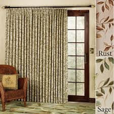 interior shabby chic drry curtain on black polished iron curtaion rod for dark brown wooden frame