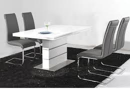 dolores high gloss dining table set to enlarge