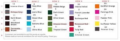 Dylon Dye Colour Chart Qoo10 Sg Sg No 1 Shopping Destination