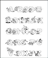 Coloring Letters Printable Alphabet Coloring Pages Preschool