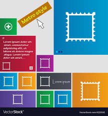 Metro Template Photo Frame Template Icon Sign Metro Style Buttons