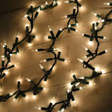 Clear Christmas Lights With Brown Cord 18 Feet Garland Style Christmas Lights With 300 Bulbs Clear Green Wire Not Battery Operated