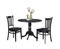 amazon east west furniture dlgr3 blk w 3 piece kitchen table and chairs set black finish table chair sets