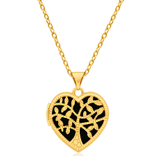 9ct yellow gold silver filled heart shaped filigree tree of life 18mm locket pendant 15250683 jewellery shiels jewellers