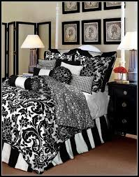 fleur de lis bed set bedding sets black and white in within comforter ideas 15