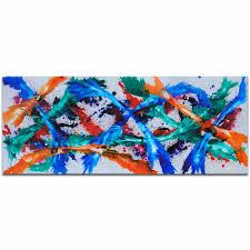 Blue, Orange, <b>Pink</b>, <b>Purple</b>, <b>Red</b>, Teal, & White Painting, <b>Modern</b> ...