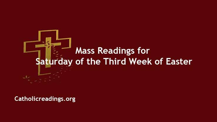 Catholic 24 April 2021 Daily Mass Reading Online