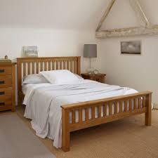 Original Rustic Double Bed In Solid Oak Oak Furniture Land - Double bedroom