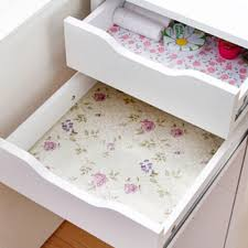 200cm flower dots sticker shelf cabinet drawer liner kitchen cupboard table mat pad home decor