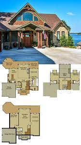rustic mountain house floor plan with