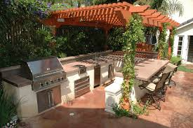Outdoor Barbecue Kitchen Designs Outdoor Bbq Kitchen Ideas Modest With Image Of Outdoor Bbq Concept