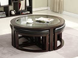 Marvelous Image Of: Coffee Table With Stools Underneath Ideas