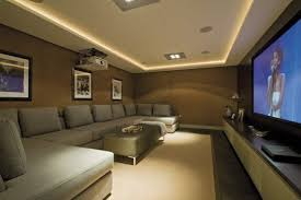 simple home theater.  Theater Greay Style Home Theater Design Inpiration With Super Size Sofa Clean And  Simple Intended M