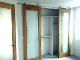bypass wood barn door closet sliding track hardware closets doors for frosted glass bedroom