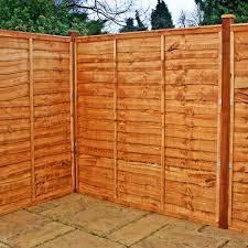lap garden fence panels