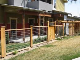 fence : Awesome Mesh Wire Fence Yard Fence Ideas Mix Of Hog Wire Fencing  And Wood Panels Suitable Wire Mesh Fencing Vancouver Remarkable Wire Mesh  Fencing B ...