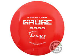 Details About New Legacy Discs Icon Gauge 176g Red White Stamp Midrange Golf Disc