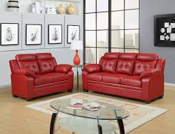 Red Leather Living Room Sets Red Leather Sofa Ebay