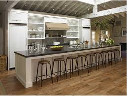 Now That Is A Long Kitchen Island.. What I Need For My Hundreds Of Kids Lol  | Home   Kitchen/dining | Pinterest | Long Kitchen, Kitchens And House
