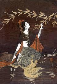 original yoga painting omwoman yoga meditate. Woman With Swan Original Yoga Painting Omwoman Meditate