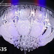 chinese supplier ceiling chandelier led crystal lamp with bluetooth