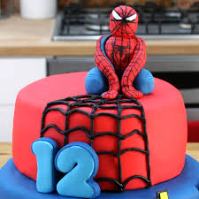 Spiderman Cake Topper Tutorial Marvel Cupcake Decorations