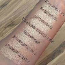 as requested here s a swatch parison of all the mac whisper of gilt estée