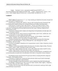 Business Analyst Resume Summary Examples Bsa Analyst Resume Business Analyst Resume Examples 100 Resumes Free 88