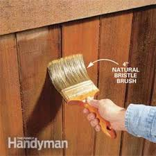 Pictures of wooden fences Vertical Photo 8 Brush Out The Fence Stain Atlantic Fence Supply How To Renew Wooden Fences The Family Handyman