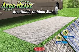 rv patio mat prest o fit aero weave breathable outdoor mat