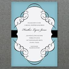 shower invitation templates scroll frame bridal shower invitation template