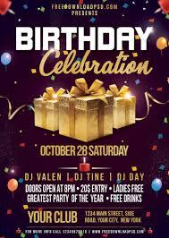 Birthday Flyers Birthday Flyer Psd Template Freedownloadpsd Com